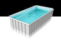Plasters plastovy bazen hranaty biela -