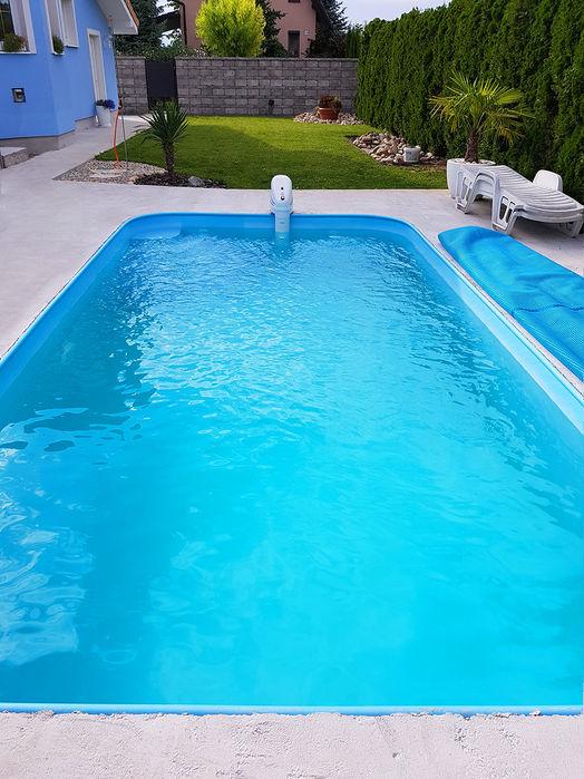 Plasters plastovy bazen zaobleny modra