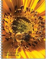 80 sheet lined notepad (yellow sunflower)