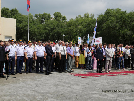 Хабаровские Казаки из Уссурийского Казачьего войска приняли участие в закладке часовни в память о во