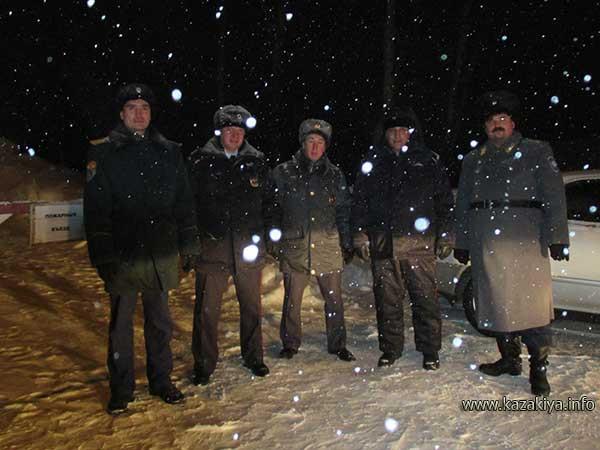 Казаки и полицейские на страже безопасности хабаровчан в Рождественскую ночь
