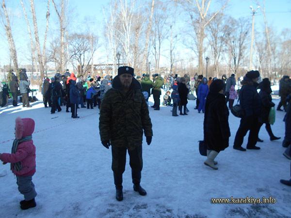 Подъесаул Осипов Евгений Иванович на страже общественной безопасности