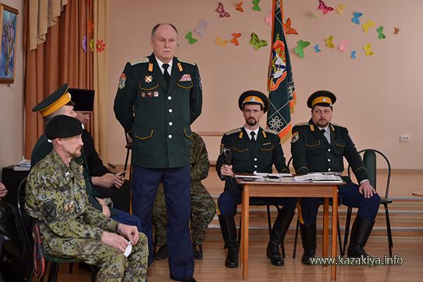 Выступление Атамана ОКОХК казачьего полковника Степанова Владимира Николаевича