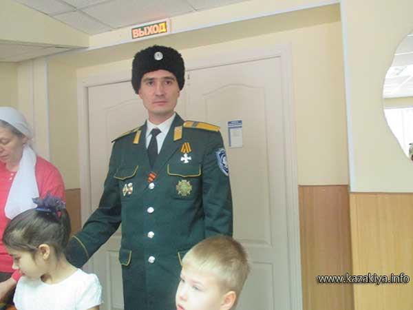 Старший урядник Пробатов Сергей Николаевич в гостях в доме-интернате