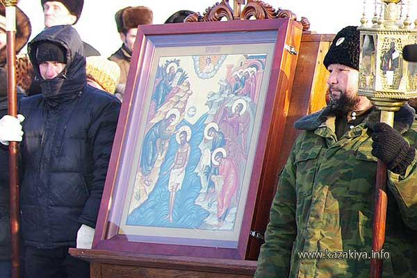 Хабаровские Казаки на Богоявление в один из прошлых годов