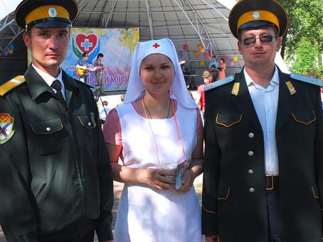 Казаки обеспечивали охрану общественного порядка на благотворительном концерте волонтерского движени