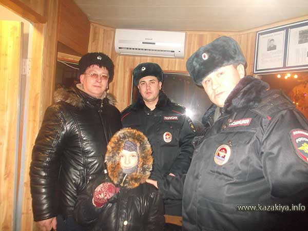 В помещении поста полиции