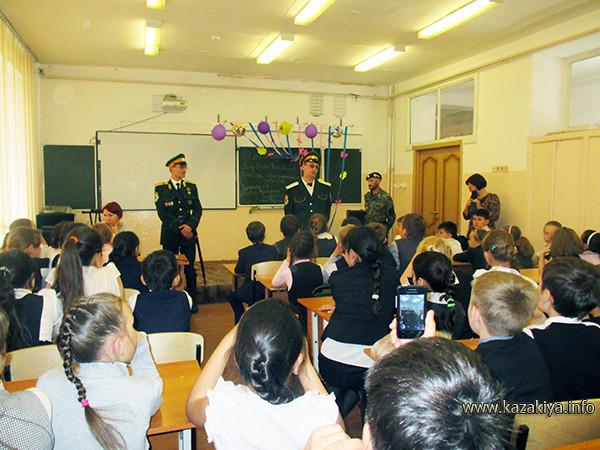"""Казаки ГКО """"Форт ДВ"""" на встрече с учениками 4-х классов школы № 46"""