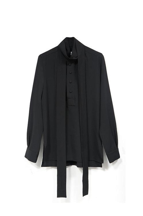 Black Double Bow Shirt