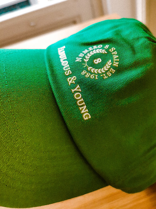 Vintage Nº8 Logo Green Cap