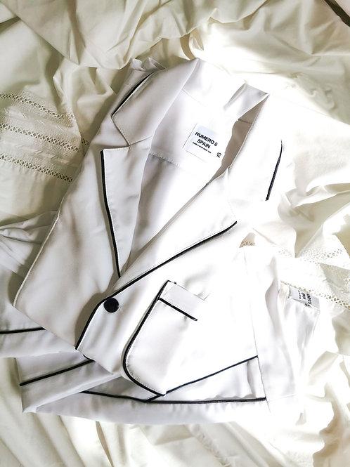 White Nº8 Pijama Shirt