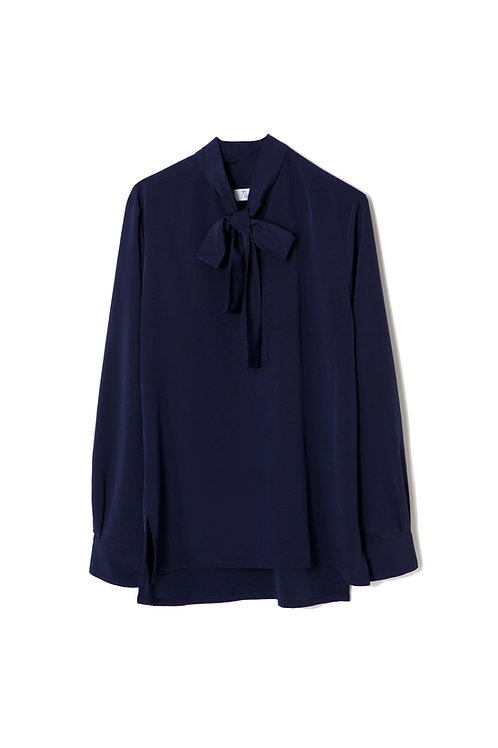 Navy Bow Shirt