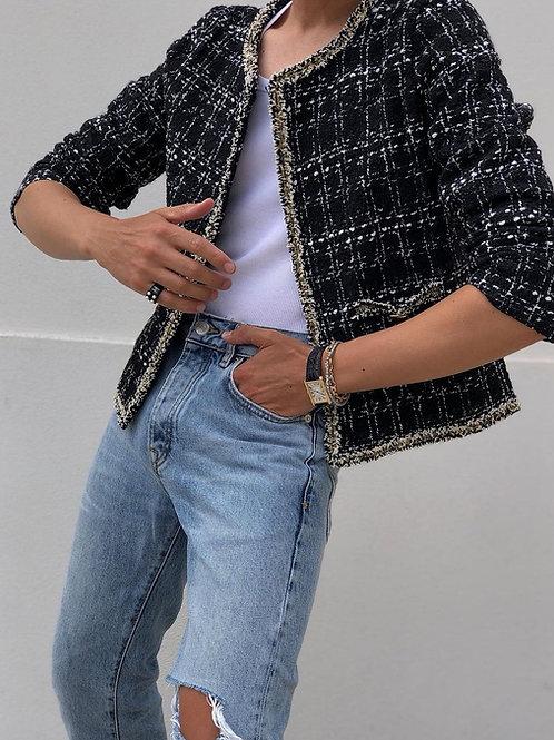 Black Summer Tweed Jacket