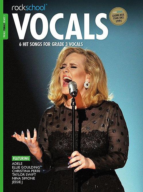 Vocals para mujer | Grado 3 | Rockschool