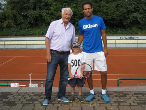 TC Weilheim begrüßt 500. Mitglied!