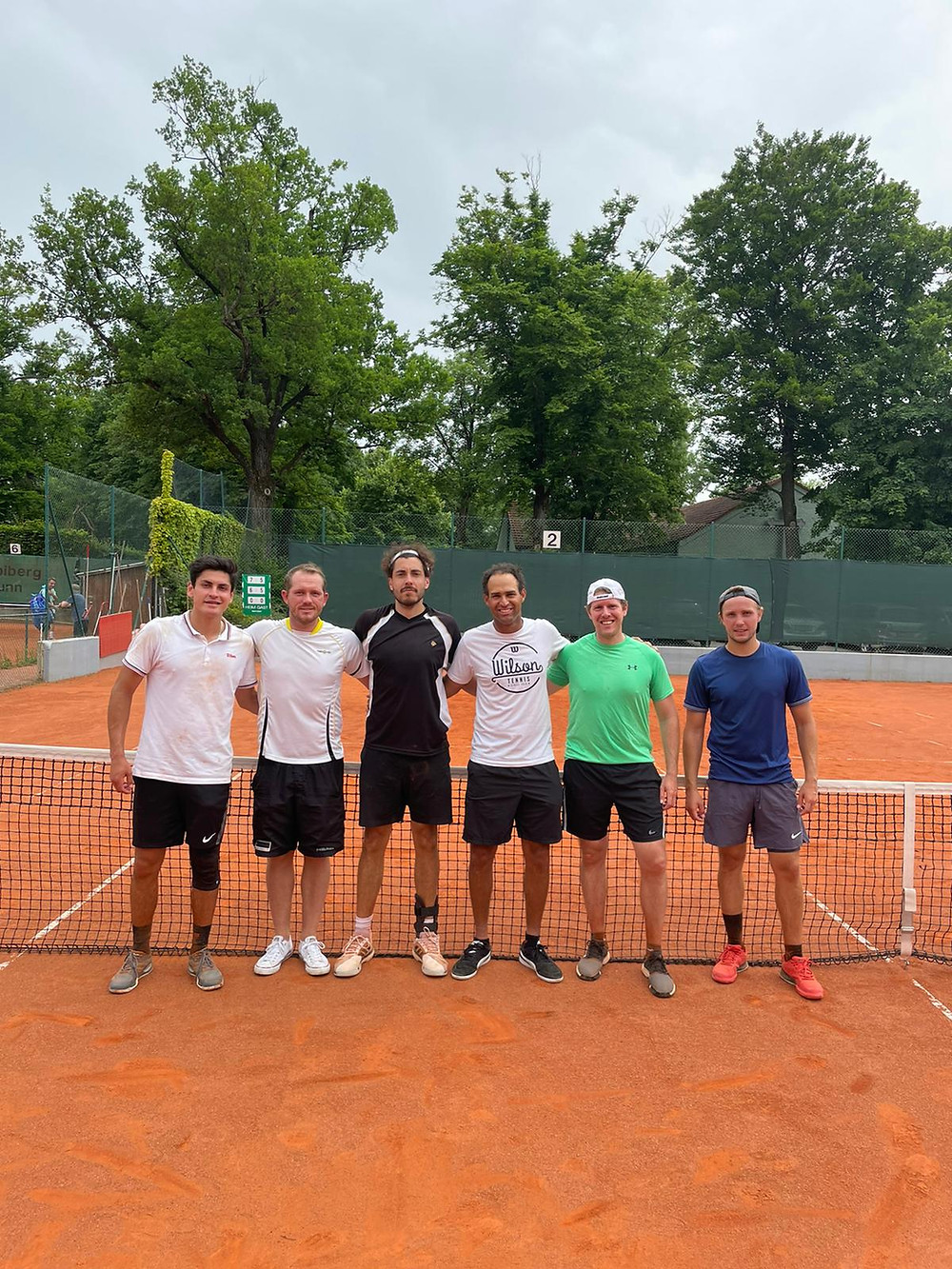 Herrenteam (von links: David Hendel, Pascal David, Vincent Schneider, Jordan Wenninger, Christian Bettinger, Daniel Köglmayr)