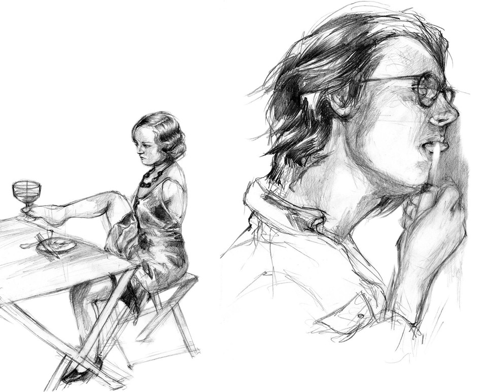 Rough Sketches for a collaboration project with the poet Maayan Even