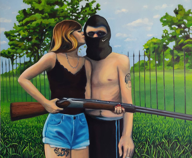 This Could Be Us, 100x120, oil on canvas