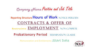 Contracts & Offer of Emploment