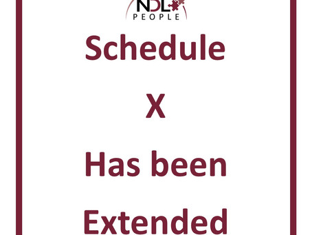 Schedule X has been extended, does this apply to your award?