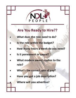 Are you ready to hire?