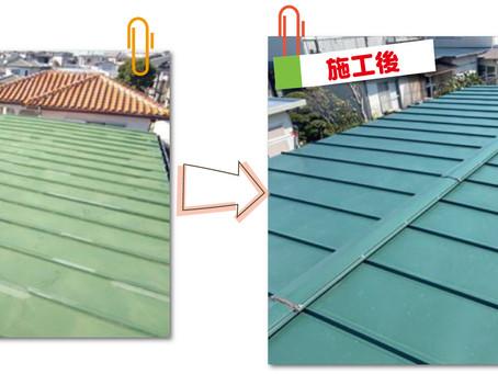 足立区梅田で瓦棒屋根をカバー工事!アールロック屋根材とタフモックで今後の雨漏り対策。