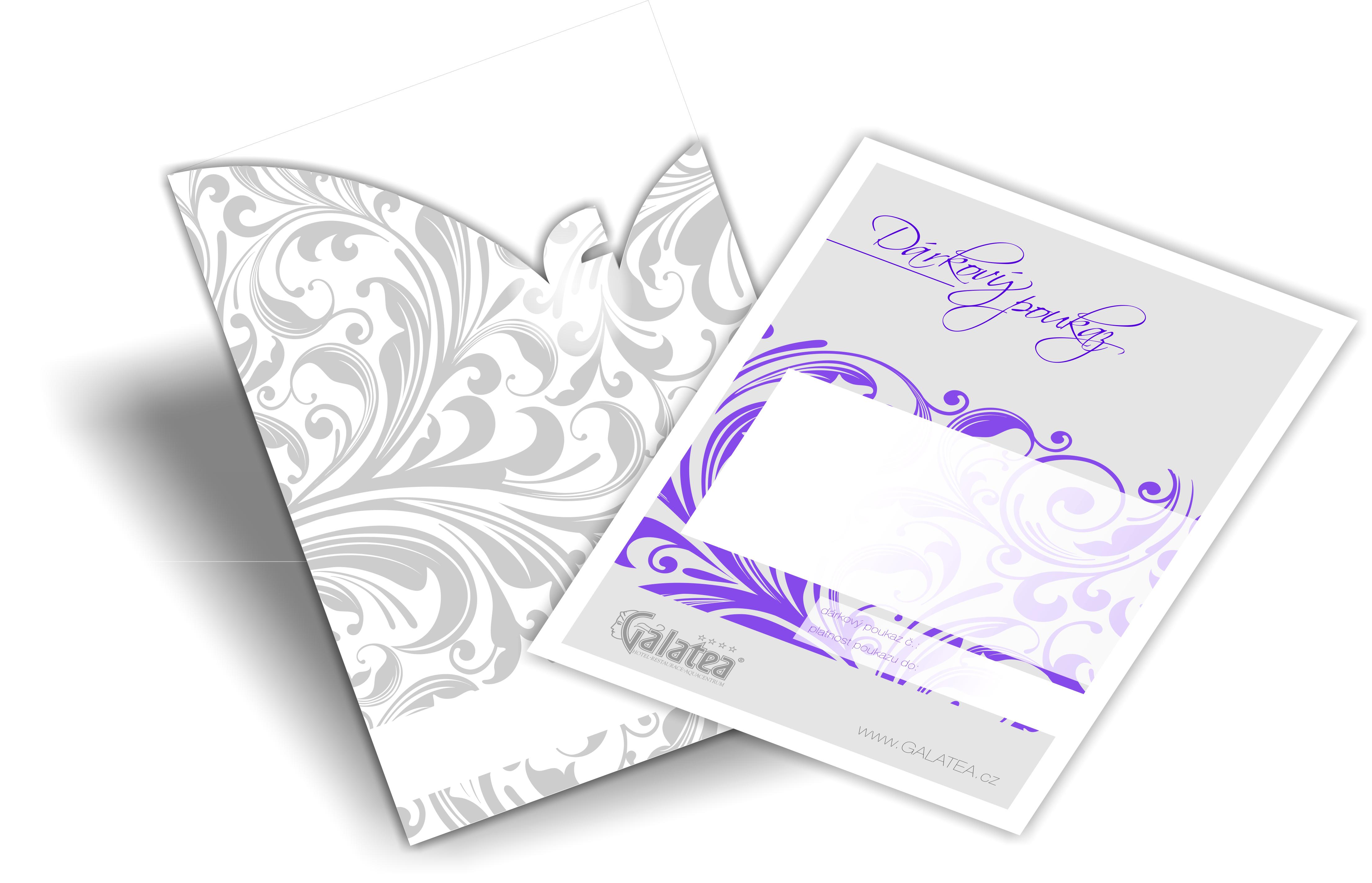 Dárkový poukaz s obálkou
