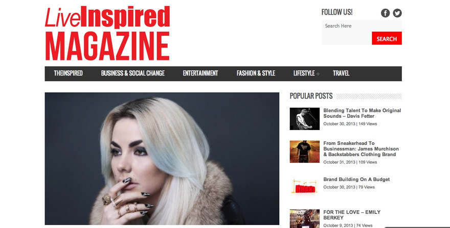 LiveInspire Magazine x Jasmine Furelid