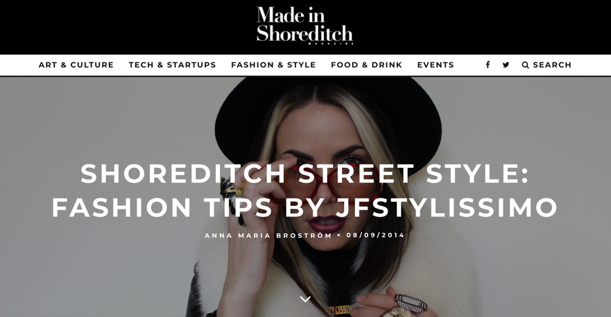Made In Shoreditch Magazine x Jasmine Furelid