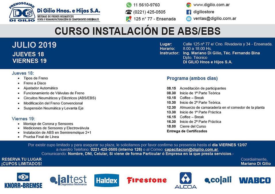 Curso Instalacion de ABS-EBS - 18 y 19 J