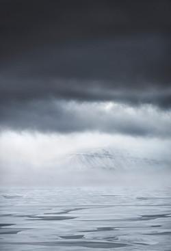high arctic mountain fog
