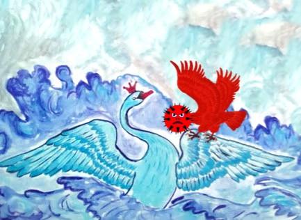 Синяя Птица Счастья победит Коронавирус