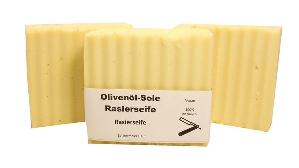 Rasierseife, Bartpflege, Naturseife, natürliche Seife, Salvias Seifen, Seife für sensible Haut, Olivenölseife, Sole Seife