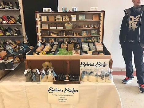 Verkaufstheke von Salvias Seifen