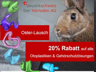 20% Rabatt auf alle Otoplastiken & Gehörschutzlösungen