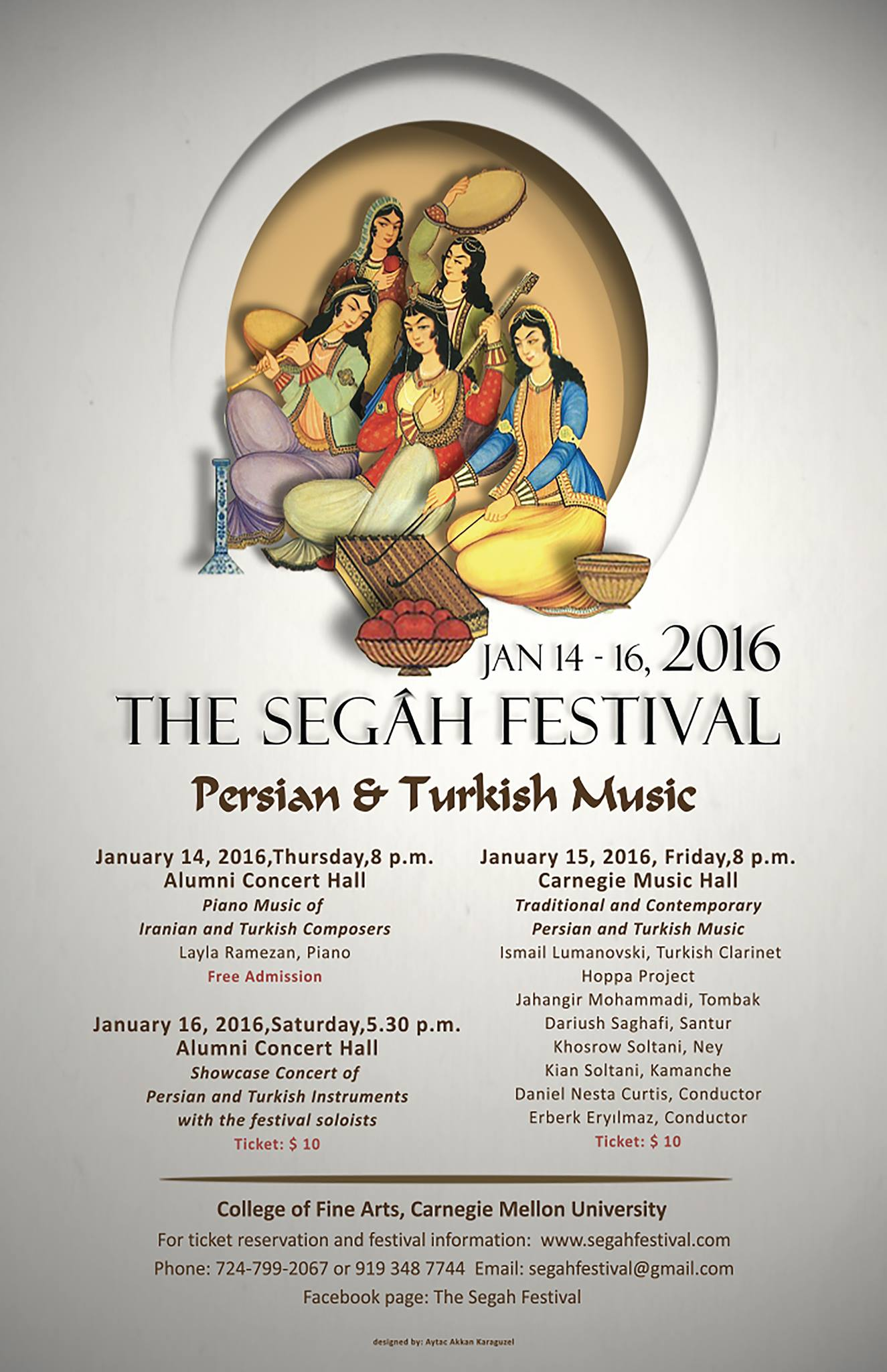 The Segah Festival Flyer