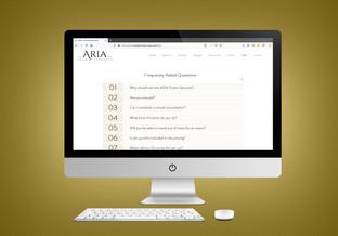 ARIA Event Services Desktop Mockup