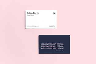 Kreative Visuals Business Card Mockup