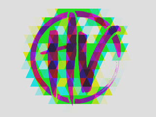 HV Techno Color Digital Art