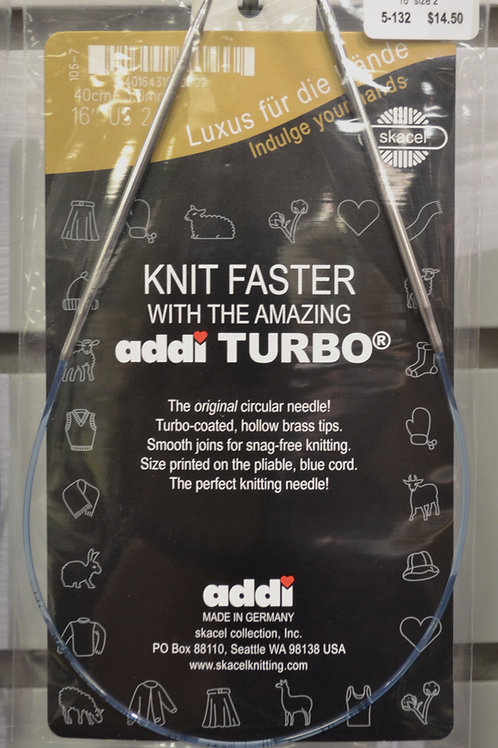 "Addi Turbo 12"" size 0-4"