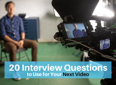 20 Interview Questions to Use for Your Next Video