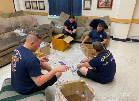 The Museum Distributes Supplies to Support Dallas Fire-Rescue During the Pandemic