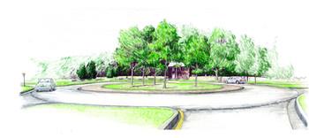 Watson Road roundabout sketch