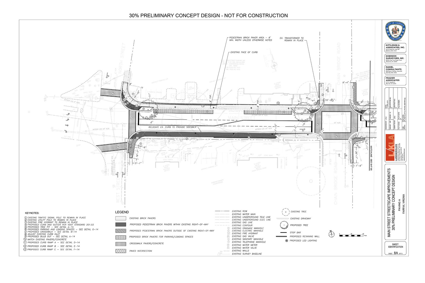 Sheet from the Mainstreet Streetscape Plan (30% design)