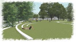 Rendering of the Seat Walls in the Lawn