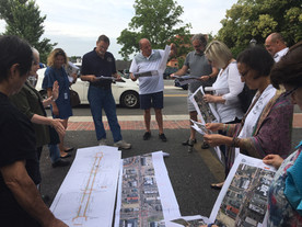 Site walkthrough with stakeholders