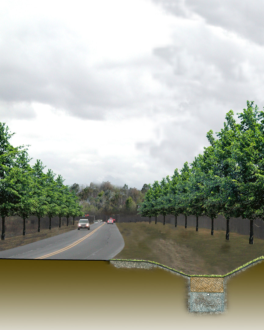 Stormwater management concept along the Byway