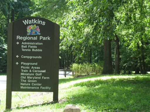 Watkins Regional Park wayfinding