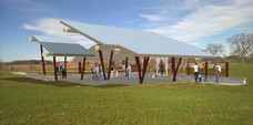 Modeled rendering of the Pavilion