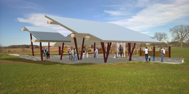 Modeled rendering of the Pavilion
